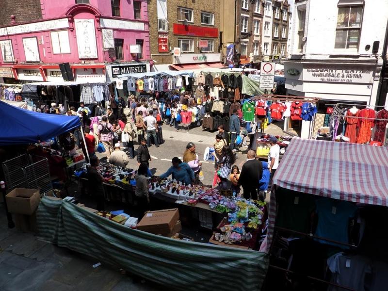Mercadillo Petticoat Lane de Londres