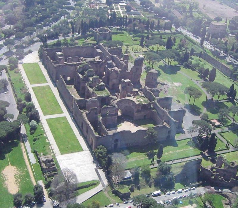 Termas de Carcalla en Roma