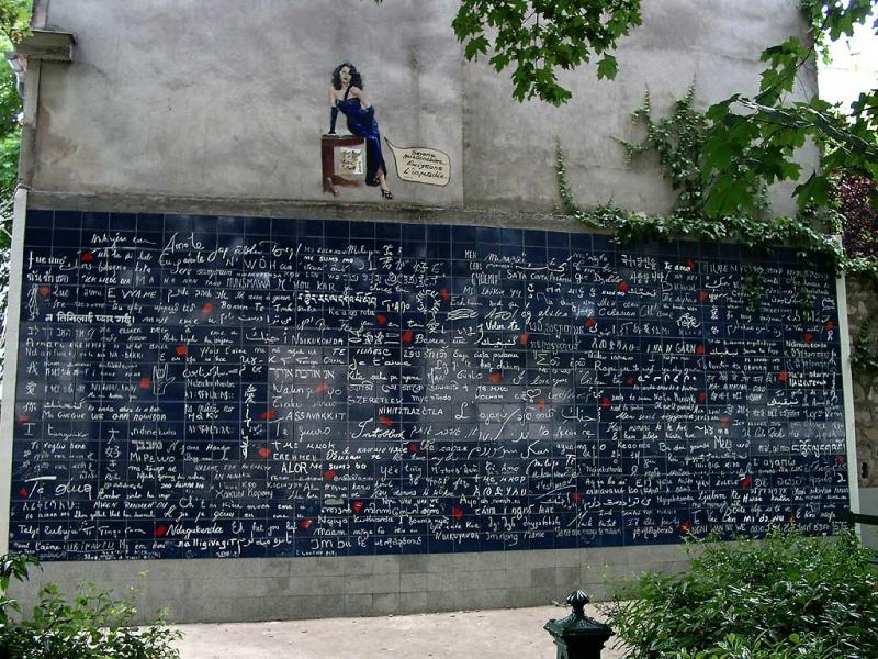 Muro de los Te Quiero en París