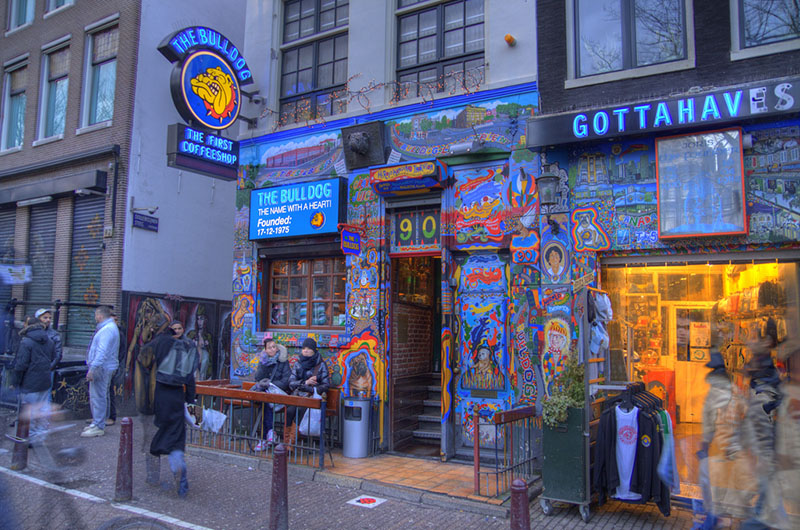 Coffee Shop Bull Dog en Ámsterdam