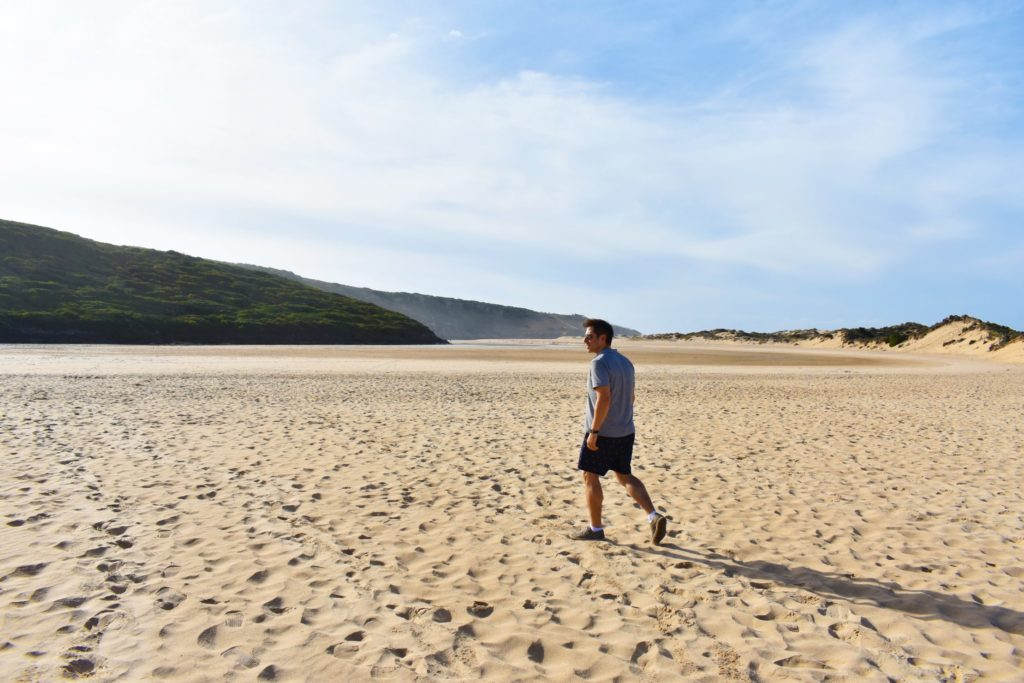 Lagoon just behind Praia da Amoreira offers splendid nature - all for yourself!