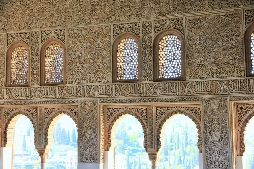 Windows of Mexuar Palace in the Alhambra